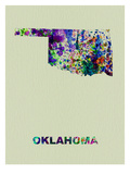Oklahoma Color Splatter Map Prints by  NaxArt