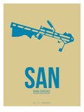 San San Diego Poster 3 Poster by  NaxArt