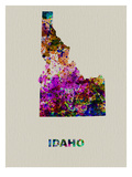 Idaho Color Splatter Map Prints by  NaxArt