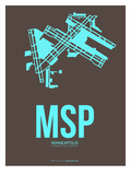 Msp Minneapolis Poster 1 Prints by  NaxArt