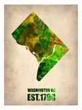 Washington Dc Watercolor Map Posters par  NaxArt