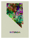 Nevada Color Splatter Map Posters by  NaxArt