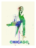 Chicago Romance Print by  NaxArt