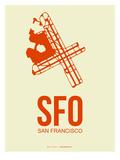 Sfo San Francisco Poster 1 Print by  NaxArt