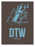Dtw Detroit Poster 1 Print by  NaxArt
