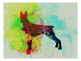Doberman Pinscher Watercolor Prints by  NaxArt