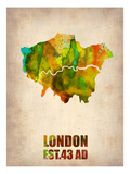 London Watercolor Map 1 Print by  NaxArt