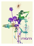 Miami Romance Posters by  NaxArt
