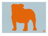 French Bulldog Orange Posters af NaxArt