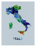 Italy Color Splatter Map Plakater av  NaxArt