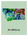 Montana Color Splatter Map Posters by  NaxArt