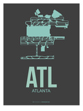 Atl Atlanta Poster 2 Prints by  NaxArt