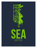 Sea Seattle Poster 2 Art by  NaxArt