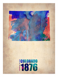 Colorado Watercolor Map Prints by  NaxArt