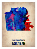 San Francisco Watercolor Map Print by  NaxArt