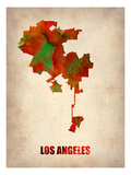 Los Angeles Watercolor Map Prints by  NaxArt
