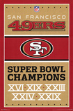 San Francisco 49ers Champions Posters