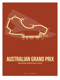 Australian Grand Prix 3 Print by  NaxArt
