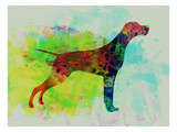 Setter Pointer Watercolor Print by  NaxArt