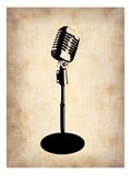 Altes Mikrophon Poster von  NaxArt