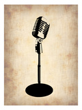 Vintage Microphone Poster by  NaxArt