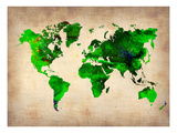 World Watercolor Map 6 Prints by  NaxArt