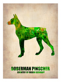 Doberman Pinscher Poster Posters by  NaxArt