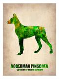 Doberman Pinscher Poster Poster by  NaxArt