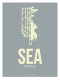Sea Seattle Poster 3 Art by  NaxArt