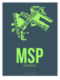 Msp Minneapolis Poster 2 Print by  NaxArt