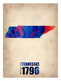 Tennessee Watercolor Map Poster by  NaxArt