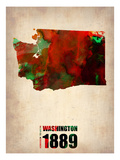 Washington Watercolor Map Posters by  NaxArt