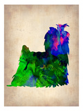 Yorkshire Terrier Watercolor Prints by  NaxArt