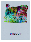 Oregon Color Splatter Map Posters by  NaxArt