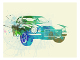 Chevy Camaro Watercolor Poster von  NaxArt