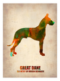 Great Dane Poster Posters by  NaxArt