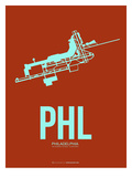 Phl Philadelphia Poster 2 Prints by  NaxArt