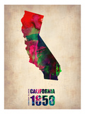 California Watercolor Map Posters by  NaxArt
