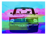 Bmw 2002 Front Watercolor 1 Art by  NaxArt