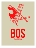 Bos Boston Poster 1 Prints by  NaxArt