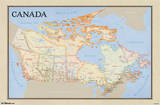 Map of Canada Educational Poster Prints