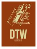 Dtw Detroit Poster 2 Prints by  NaxArt