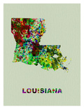 Louisiana Color Splatter Map Posters by  NaxArt