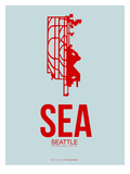 Sea Seattle Poster 1 Posters by  NaxArt