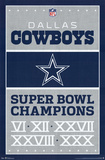 Dallas Cowboys Champions Pôsters