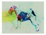Fox Terrier Watercolor Reprodukcje autor NaxArt