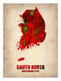 South Korea Watercolor Map Posters by  NaxArt