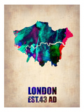 London Watercolor Map 2 Prints by  NaxArt