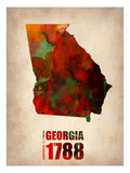 Georgia Watercolor Map Posters by  NaxArt