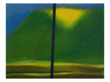 Green Mountain with Yellow Print by Vaan Manoukian